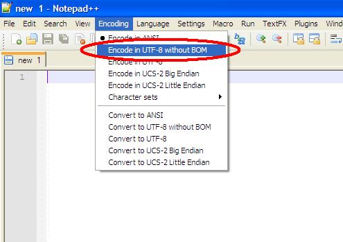 Mentés UTF-8-ba, BOM nélkül