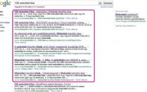 108 weboldal hiba