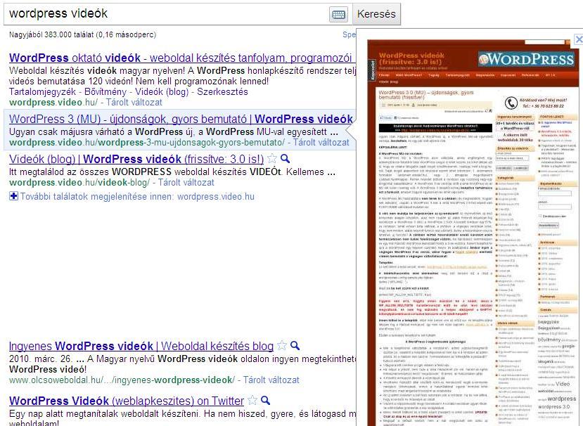 Google előnézeti képek 2.