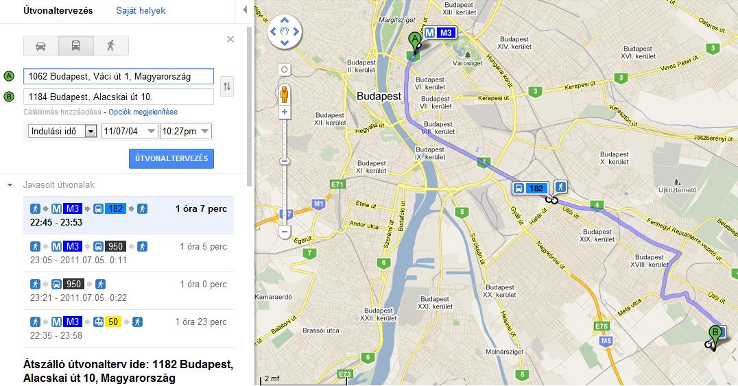google térkép útvonalterv BKV s útvonaltervező a Google Maps felületén | WordPress weboldal  google térkép útvonalterv