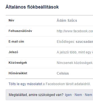 facebook-adatok-letoltese