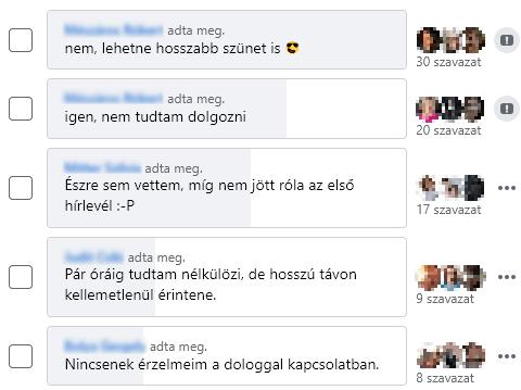 Hogyan érintett, hogy nincs Facebook?
